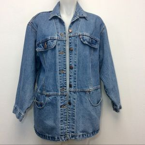 Vintage Levis Denim Jean Jacket Oversized Coat